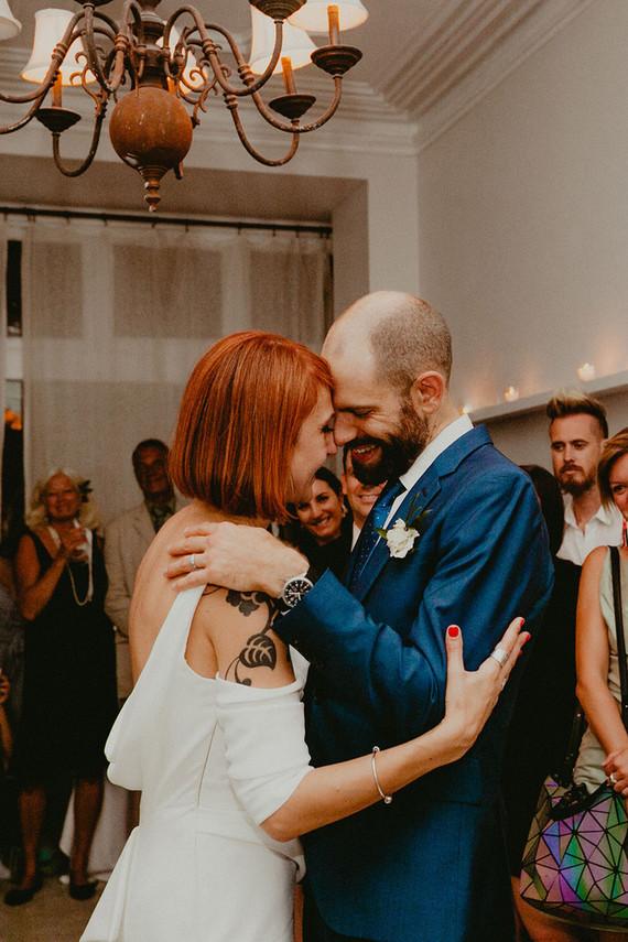 Whimsical stylish wedding in a Brooklyn brownstone