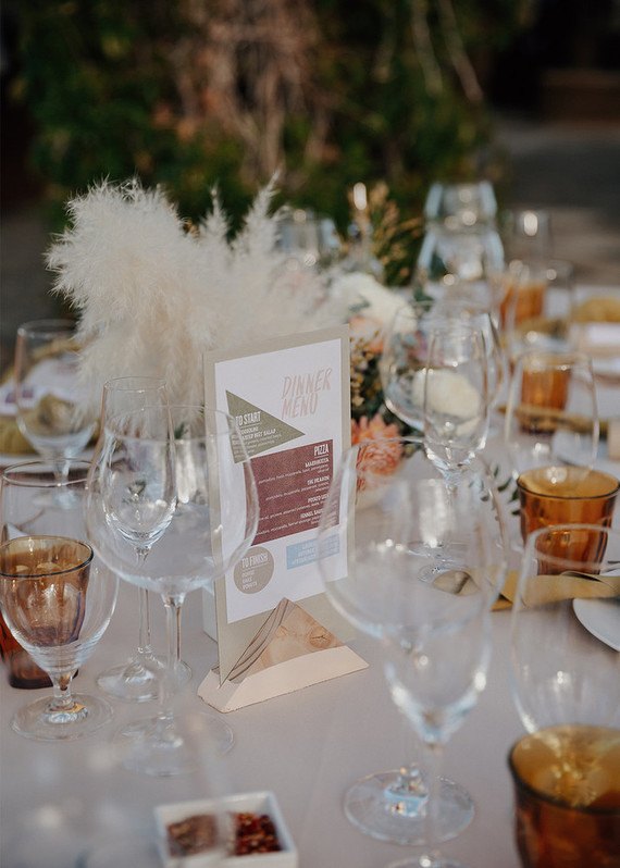 modern desert-inspired table numbers