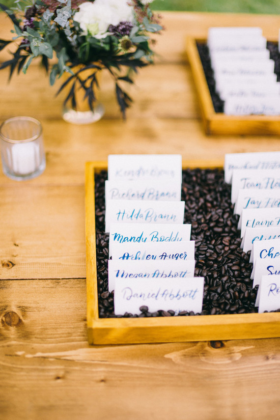 handwritten watercolor escort cards