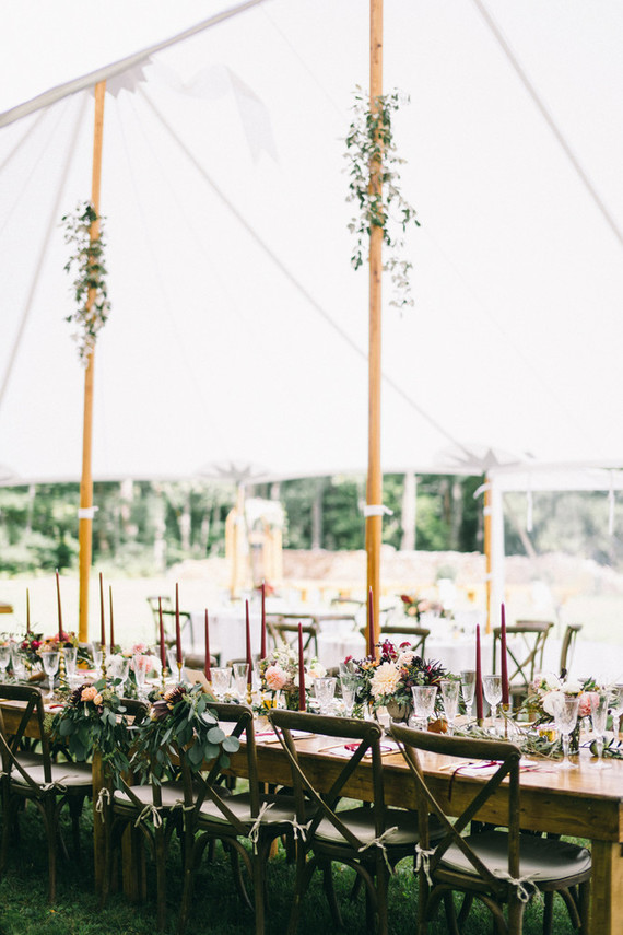 Elegant backyard tent wedding