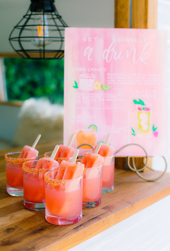 An all pink Cinco de Mayo party with popsicle cocktails