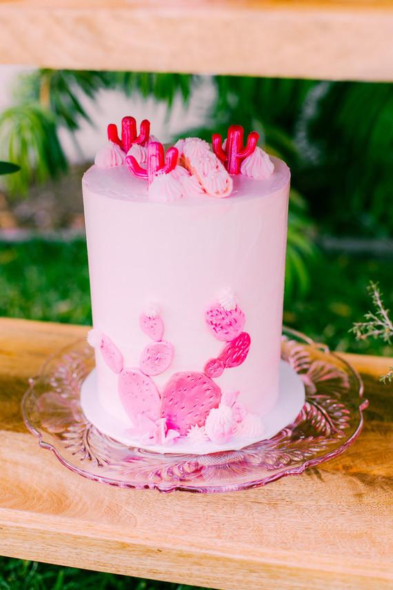 Pink cactus cake