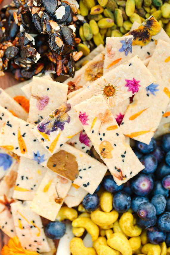 Edible floral cookies
