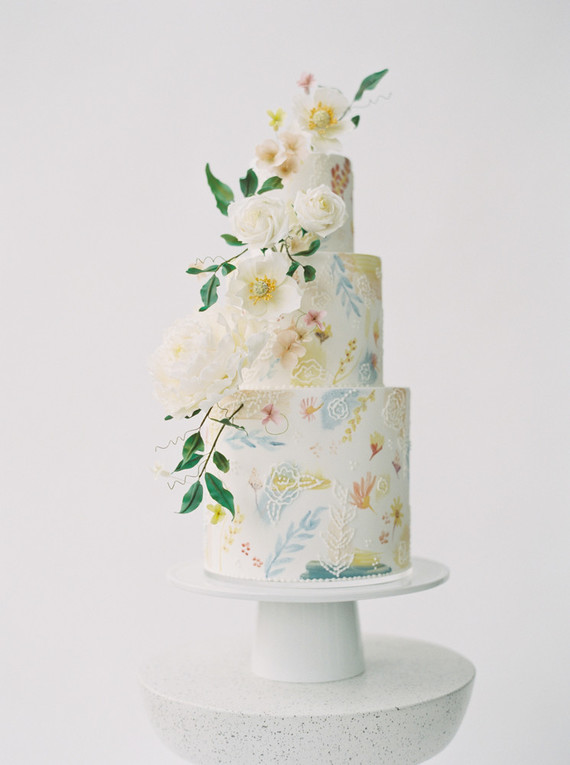 Delicate painterly spring wedding ideas
