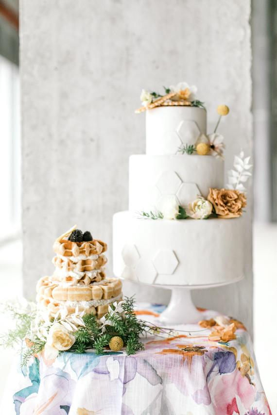 Waffle wedding cake!