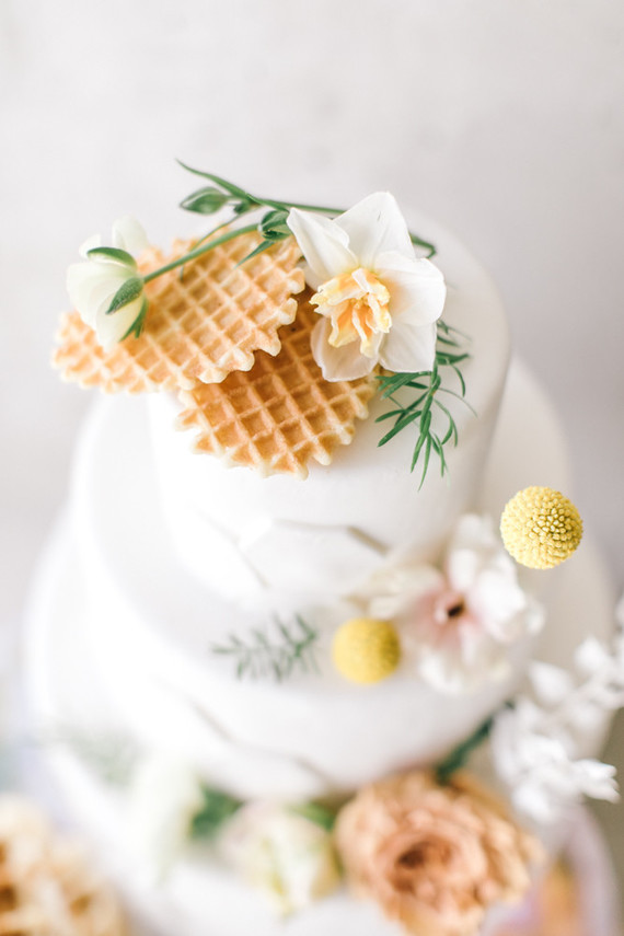 waffle cake for brunch wedding