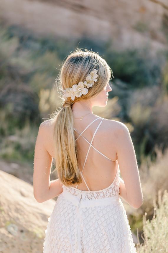 Boho bridal vibes at Vasquez Rocks