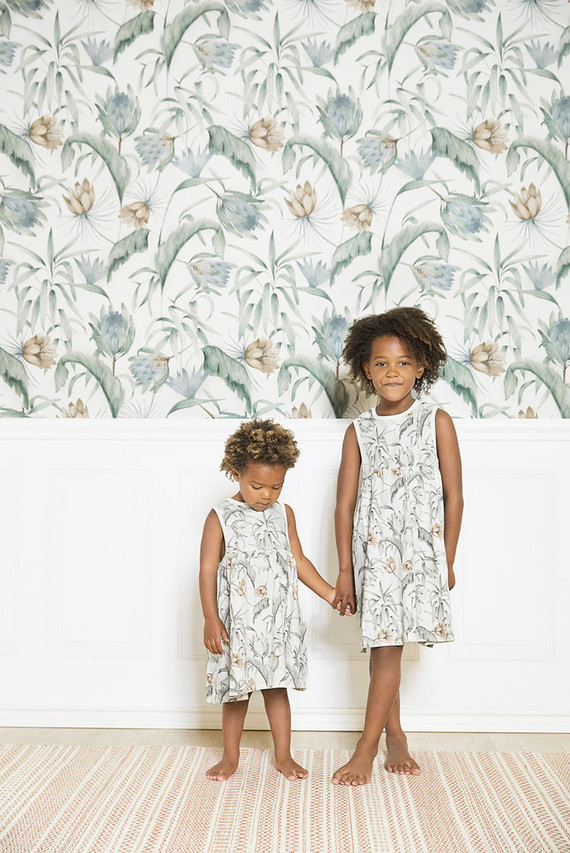 Floral protea wallpaper from Rylee + Cru for Lulu & Georgia