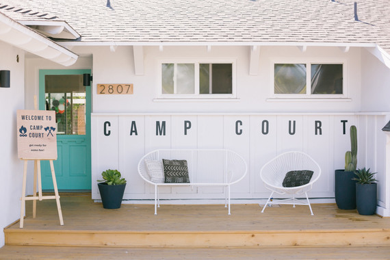 Backyard camp-themed 5th birthday party