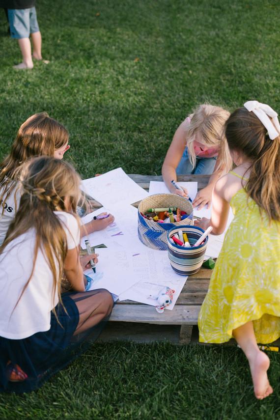 Backyard camp-themed 5th birthday party