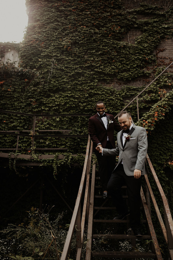 A sentimental, industrial modern wedding at the Museum of Contemporary Art Detroit