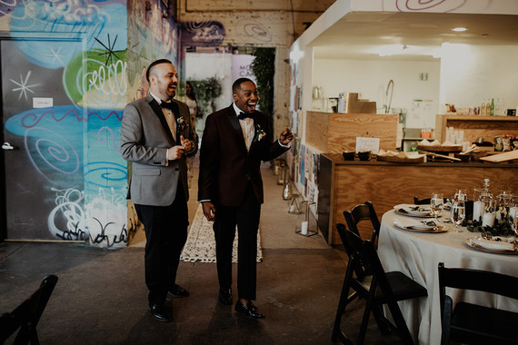 Industrial modern Detroit wedding