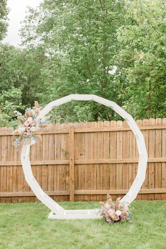 Floral hoop idea