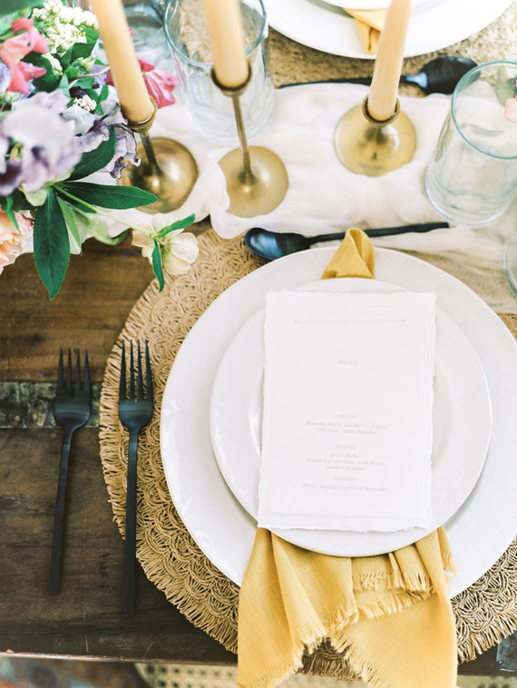 Black and yellow wedding ideas