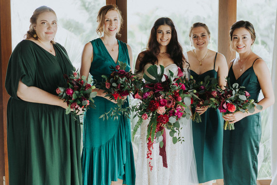 Emerald bridesmaids
