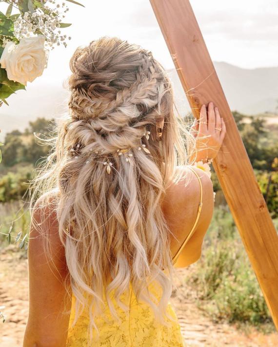 Boho bridal braids