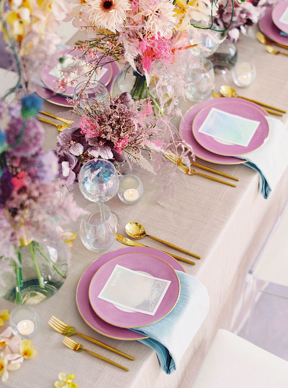 Pastel tablescape