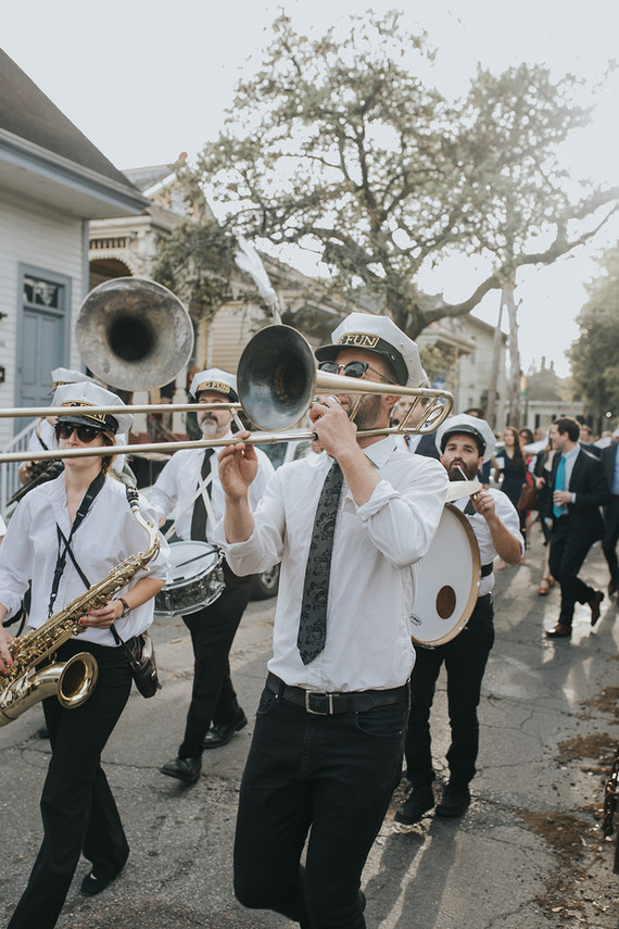 Wedding parade in NOLA