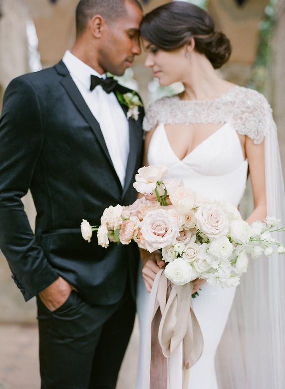 Elegant bridal cape