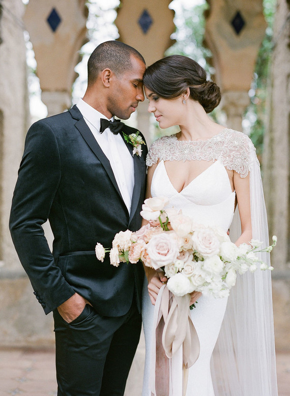 Romantic bridal cape