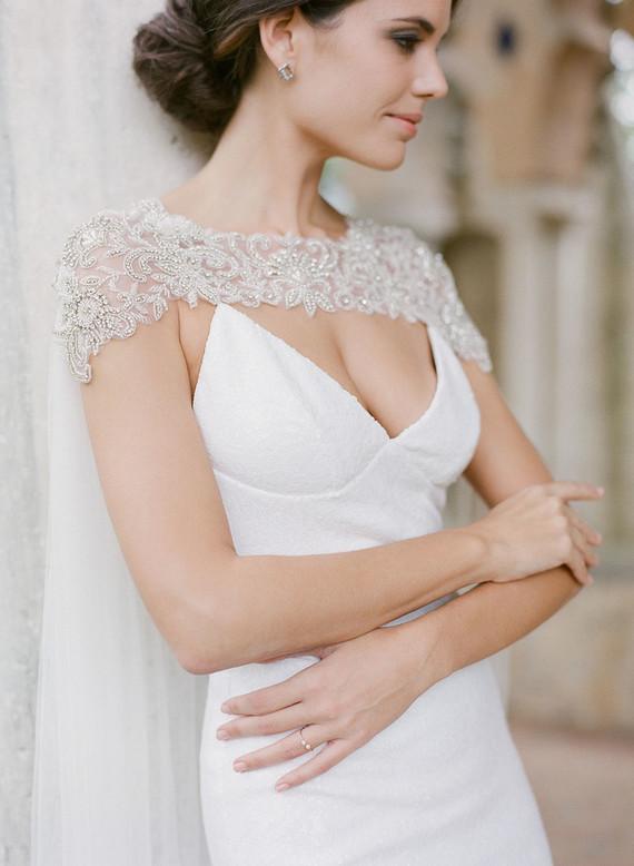bridal cape idea