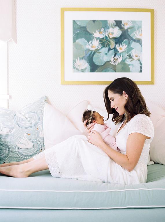 Pastel newborn photos