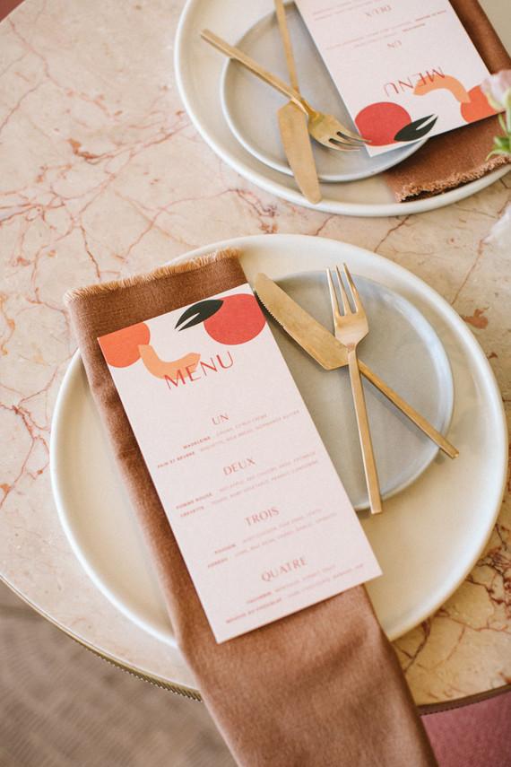 Modern menu idea