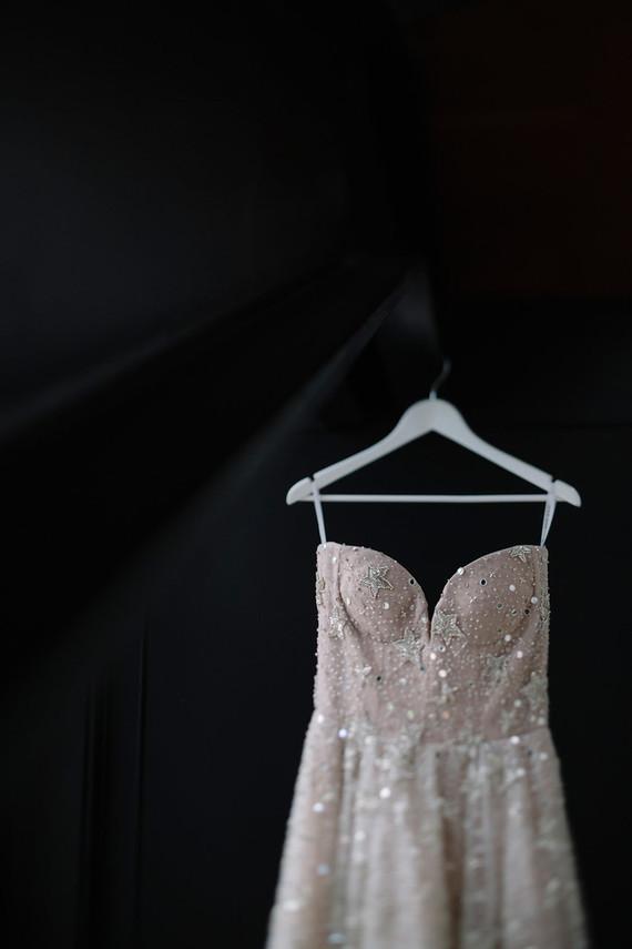 Sparkly wedding dress
