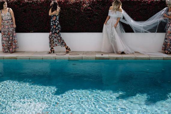 Printed bridesmaids