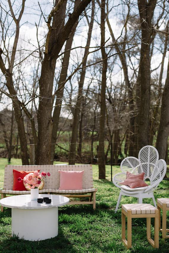 Pink wedding lounge