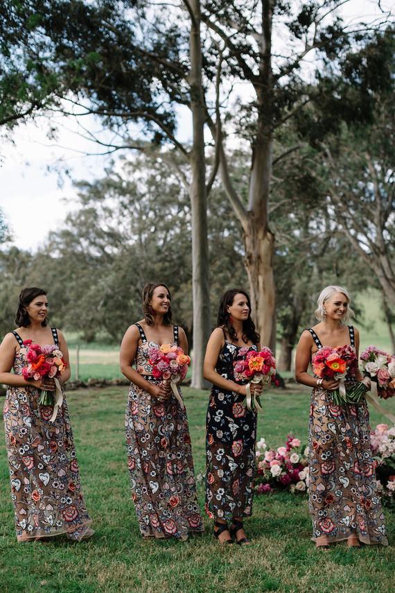 Floral bridal party