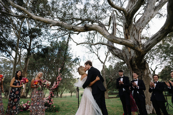 Floral wedding ceremony