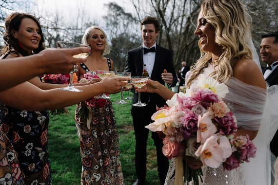 Colorful Australian wedding