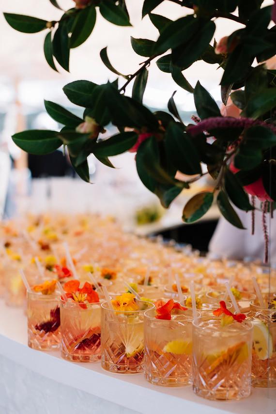 Floral cocktail ideas