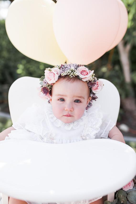 1st birthday floral crown