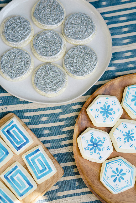 Blue sugar cookies