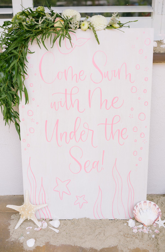 Under the sea themed girls party