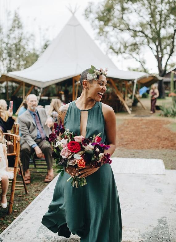 Jewel toned bridesmaids