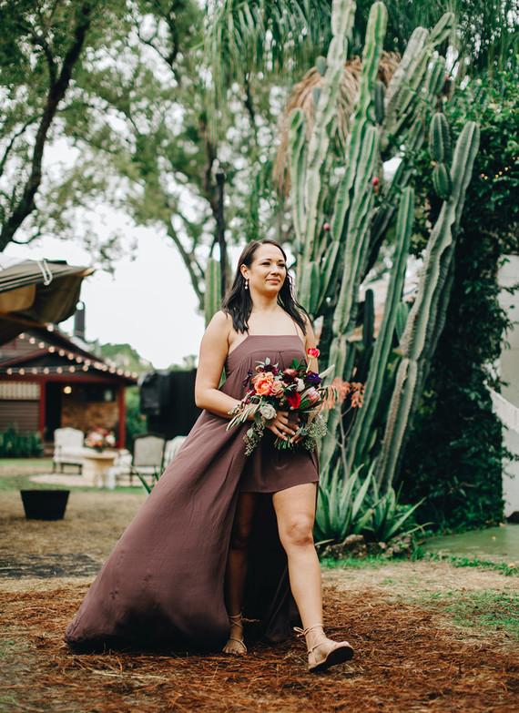 Jewel tone bridesmaids