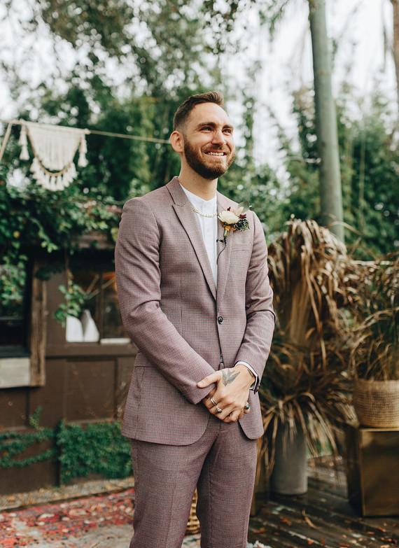 Jewel toned bohemian wedding