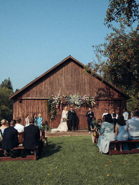 Rustic summer barn wedding