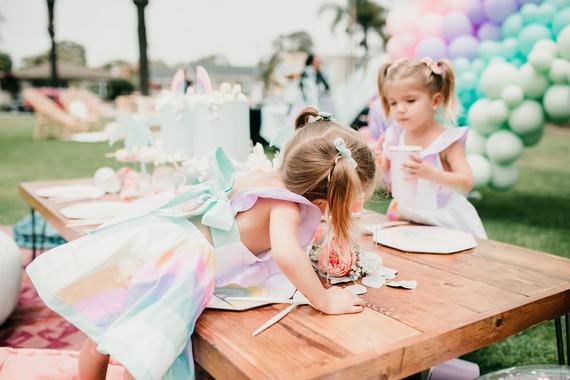Rainbow pastel twin birthday party