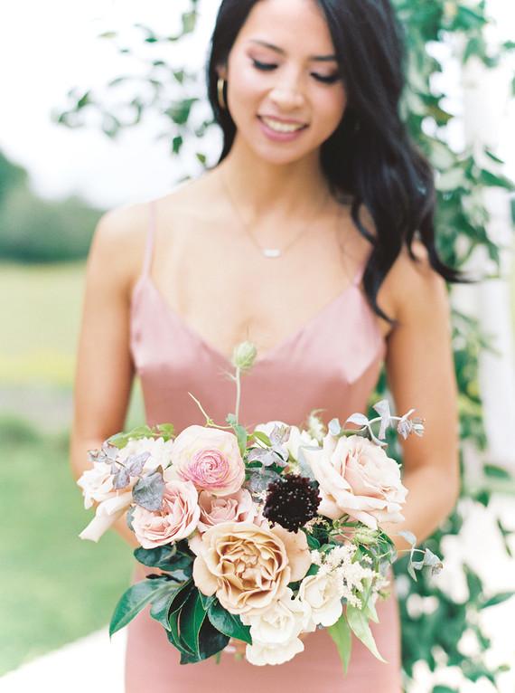 Bridesmaid in dusty rose