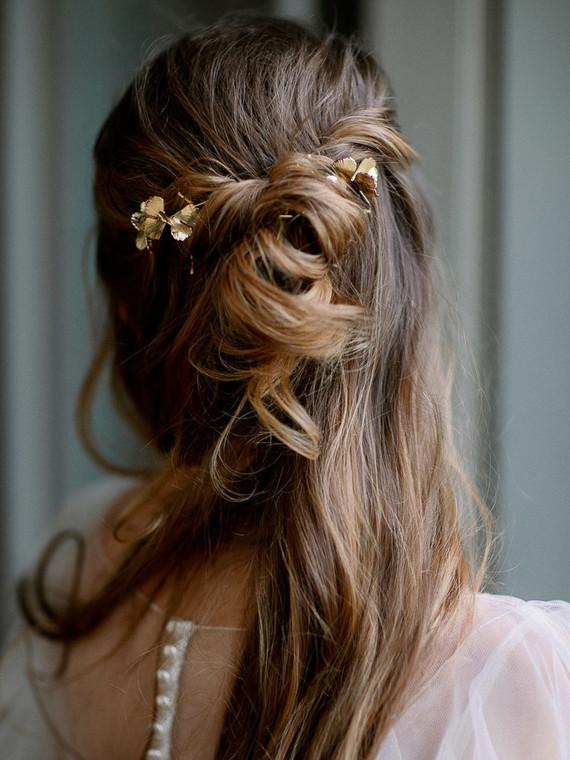 Romantic bridal hairstyle