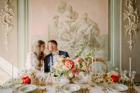 Elegant european wedding cake