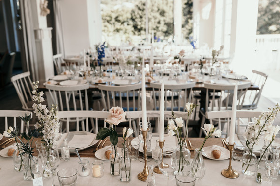 Vintage coastal wedding decor