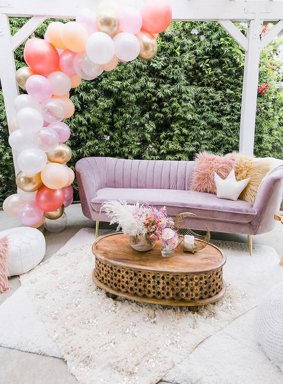 Pink balloon install