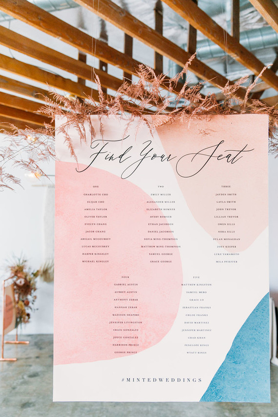 Minted wedding signage