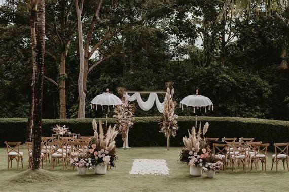 Boho Bali wedding