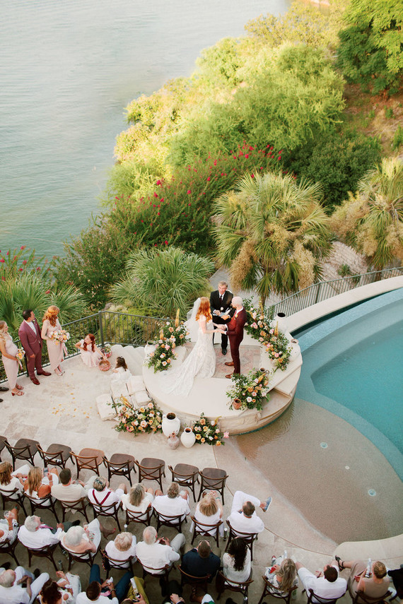 How one expecting couple planned their summer lake wedding in three months